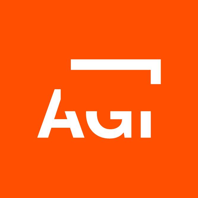 AGi architects logo naranja nueva identidad corporativa