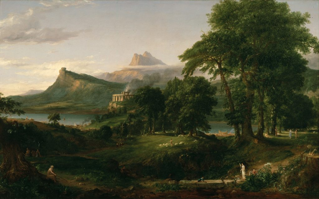 Thomas Cole's, The Arcadian or Pastoral State, 1834.