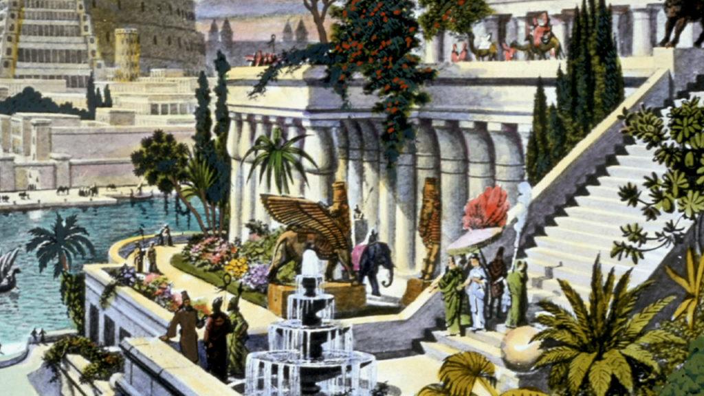 Hipotética reconstrucción de los jardines