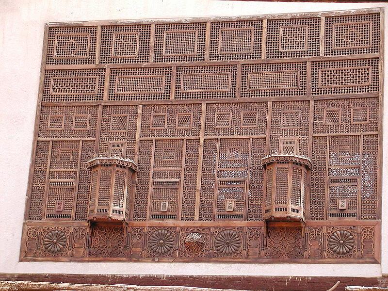 Celosía en Mashrabiya en El Cairo