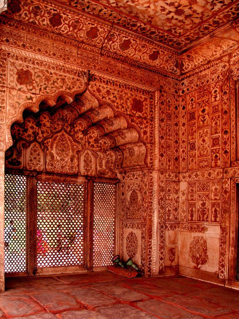 Celosía o Jali en Red Fort Delhi