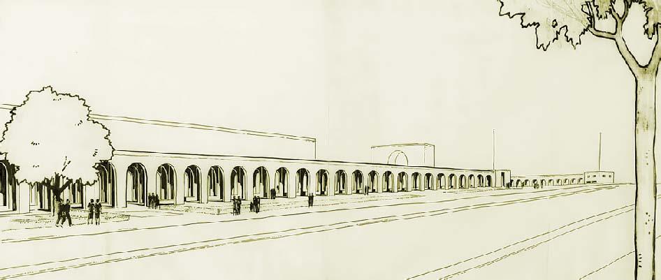 Arquería de Nuevos Ministerios - boceto de Zuazo