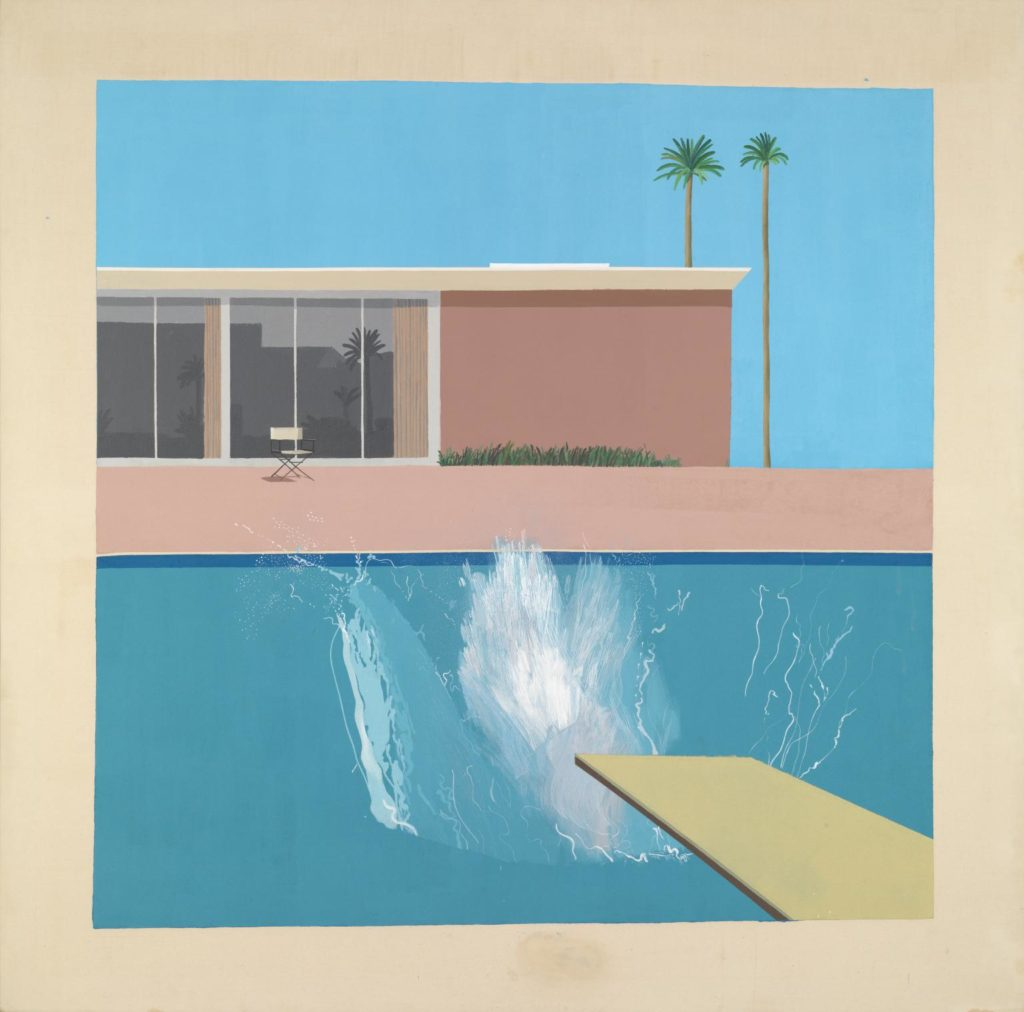 Swimming pools: 'A Bigger Splash', David Hockney.