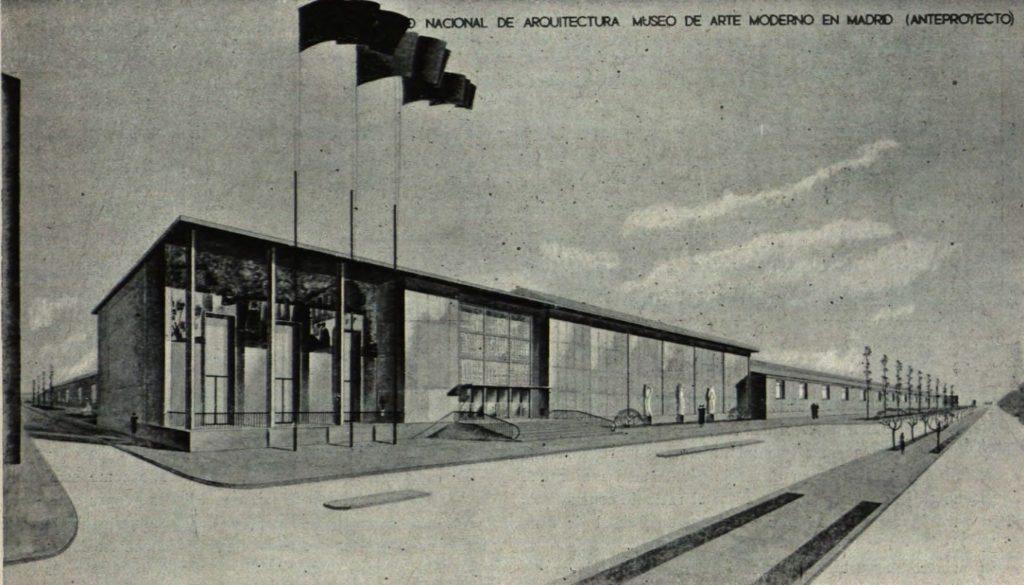 Proyecto de Mercadal para el Museo de Arte Moderno