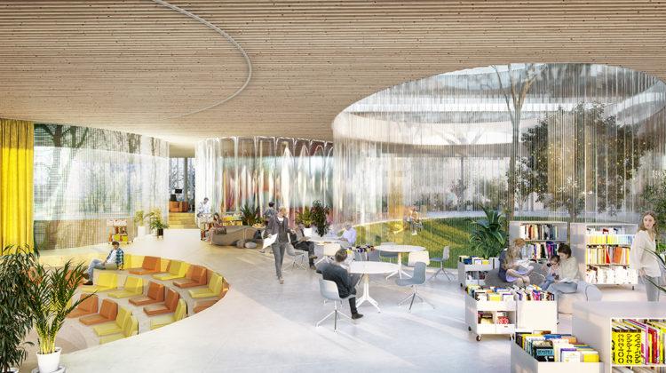 """""""Entre"""". Una propuesta para la biblioteca de Montecarmelo en Madrid"""