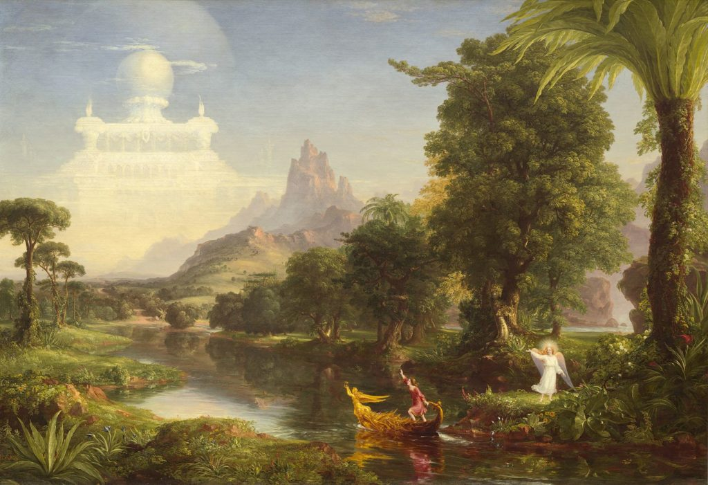 Thomas Cole, The Voyage of Life - water in architecture and art