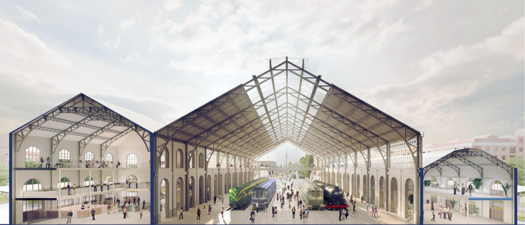 AGi architects. Railway Museum, Madrid.
