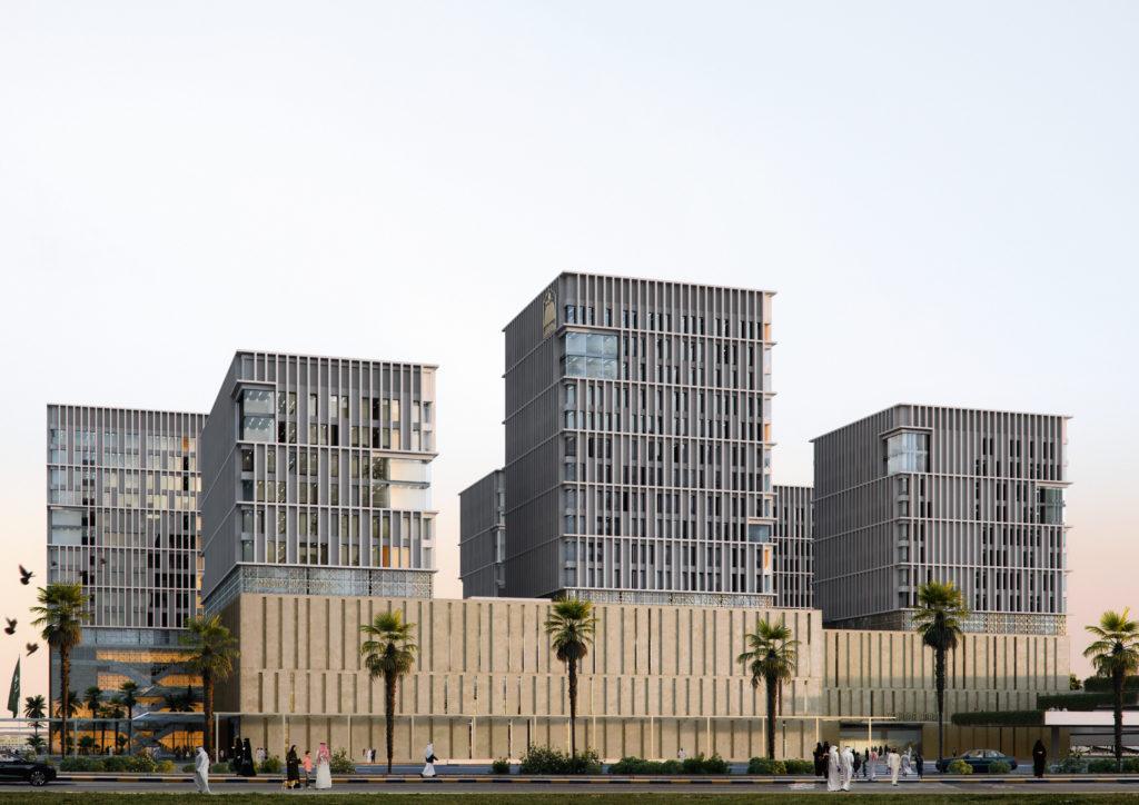 Obras 2021/21 - AGi architects. Ciudad de la Justicia en Arabia Saudí. AGi architects. Render de The Viz Design Company