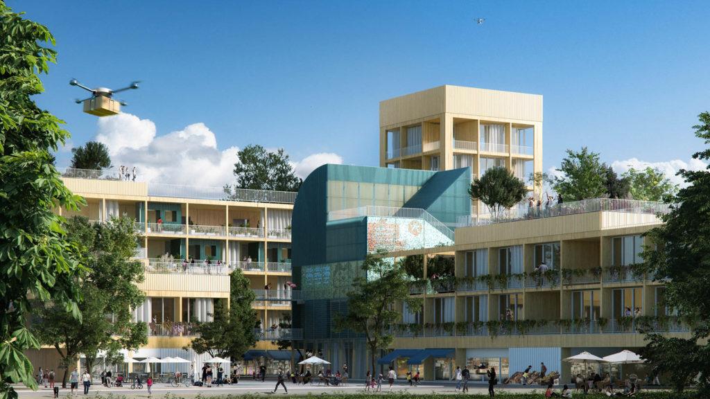 Obras 2020/21 - AGi architects. Viviendas Switch. Render de The Viz Design Company