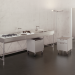 Revisions of the modern kitchen. Italian radical design and German good design